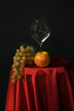 Fruit and wine glass Royalty Free Stock Image