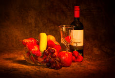 Fruit and wine Stock Photo