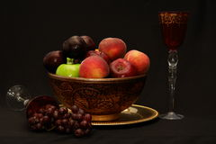Fruit and Wine II Stock Images