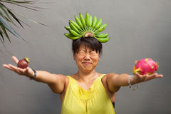 Fruit woman Stock Photography