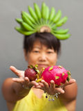 Fruit woman Royalty Free Stock Images