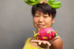 Fruit woman Royalty Free Stock Photo