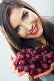 Fruit woman isolated Stock Photos