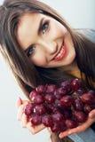 Fruit woman isolated Stock Photos