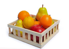Fruit in  wooden basket Stock Image