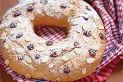 Fruit wreath bread Royalty Free Stock Image