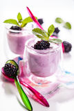 Fruit yoghurt Stock Photography