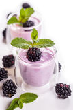 Fruit yoghurt Royalty Free Stock Image