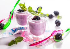 Fruit yoghurt Royalty Free Stock Photos