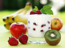 Fruit yogurt Stock Image