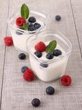Fruit yogurt Stock Image