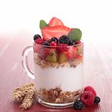 Fruit and yogurt Royalty Free Stock Photography