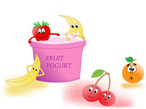 Fruit yogurt Royalty Free Stock Image