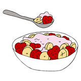 Fruit Yogurt Bowl Royalty Free Stock Images