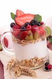 Fruit and yogurt,cereals Royalty Free Stock Photo
