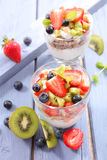 Fruit and yogurt Royalty Free Stock Image