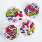 Fruit Yogurt Royalty Free Stock Photos