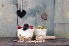 Fruit yogurt Royalty Free Stock Photography