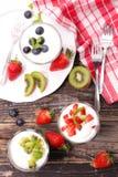 Fruit and yogurt Royalty Free Stock Photo