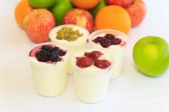 Fruit Yogurts Royalty Free Stock Photography