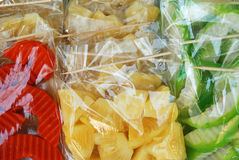 Fruit in zakken Royalty-vrije Stock Afbeelding