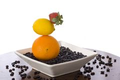 Fruit zen garden Royalty Free Stock Photos