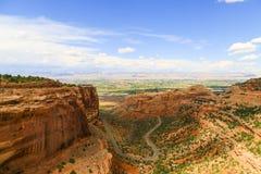 Fruita kanjon i Colorado den nationella monumentet arkivfoton