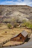 Fruita is momenteel het hart en het administratieve centrum van het Nationale Park van de Capitoolertsader, Utah Stock Afbeelding