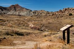 Paleontological Excavation Site in Colorado royalty free stock photos