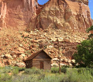 Fruita Schoolhouse Capitol Reef National Park. Historic Fruita Schoolhouse in Capitol Reef National Park Royalty Free Stock Photos