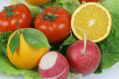 Fruitand vegetables. Macro fruit and vegetables, healthy food Stock Image