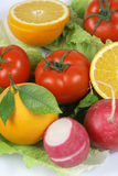 Fruitand vegetables. Macro fruit and vegetables, healthy food Stock Photo