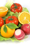 Fruitand vegetables. Macro fruit and vegetables, healthy food Royalty Free Stock Image