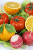 fruitandgrönsaker Arkivfoto