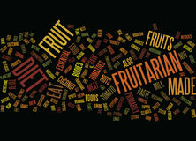 Fruitarian Word Cloud Concept. Fruitarian Text Background Word Cloud Concept royalty free illustration