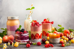 Fruitbes smoothie stock fotografie