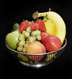 Fruitbowl on satin Royalty Free Stock Image