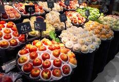 Fruitbox in de supermarkt royalty-vrije stock fotografie