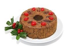 fruitcake απομονωμένο σύνολο Στοκ Εικόνα