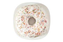fruitcake пасхи круглый Стоковая Фотография