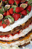 Fruitcake. A layered fruit cake for a wedding Royalty Free Stock Image
