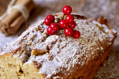 Fruitcake for christmas time Stock Photos