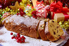 Fruitcake for christmas time Stock Photo