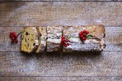 Fruitcake for christmas time Royalty Free Stock Photo