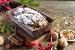 Fruitcake for Christmas Stock Image