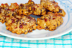 Fruitcake Cookies close up Stock Images