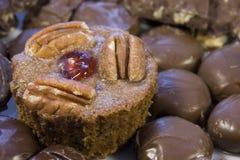 Fruitcake cupcake detail Royalty Free Stock Photos