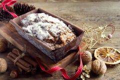 Fruitcake dla bożych narodzeń Fotografia Stock