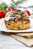 Fruitcake with dried fruits and nuts Royalty Free Stock Images
