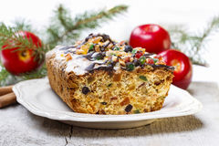 Fruitcake with dried fruits and nuts Stock Photography